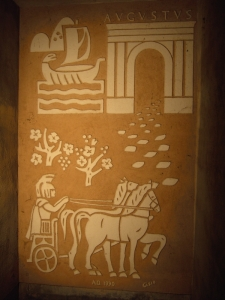 Стенопис на стълбището към подземната изба