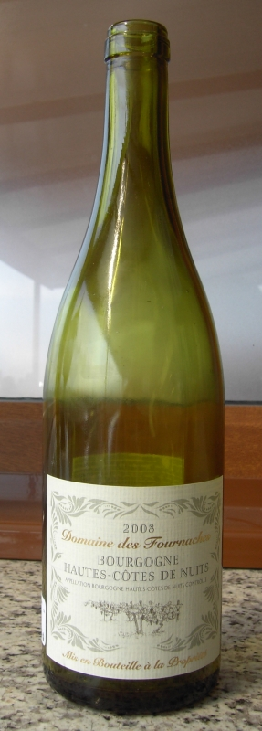 Domaines des Fournaches Bourgogne Hautes-Côtes de Nuits 2008