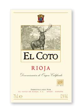 Етикет El Coto Rioja blanco 2009